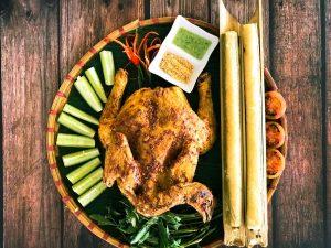 Món gà nướng cơm Lam Món ngon hấp dẫn tại Cơm Niêu Fresh Đà Lạt